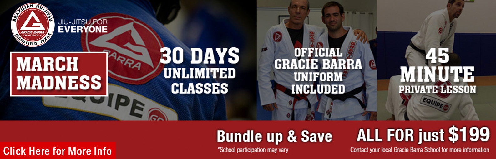 Getting started at Gracie Barra has never been easier in March 2015