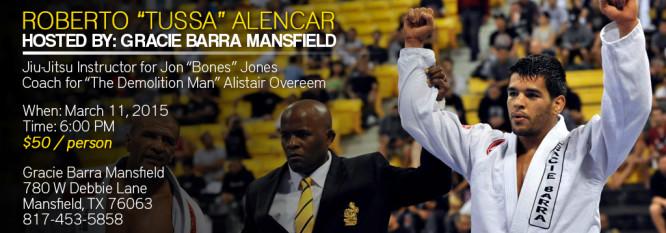 """Roberto """"Tussa"""" Alencar Seminar – Gracie Barra Mansfield"""