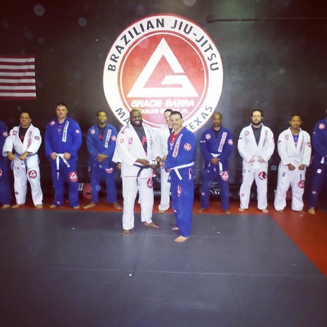 Congrats Martin Perez on your 2nd stripe!! #gbmansfieldtx #graciebarra #jiujitsu #jiujitsuforeveryone